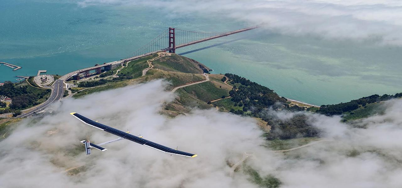 Un avión impulsado por el sol, el futurismo hecho realidad