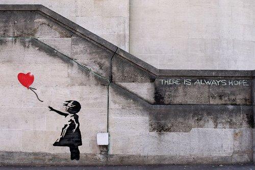 http://www.amazon.co.uk/Banksy-Balloon-Always-Poster-Measures/dp/B00AEBZSBQ